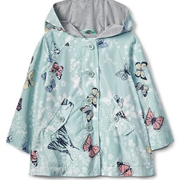 GAP Other - Baby gap girls butterfly raincoat size 2t
